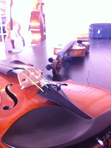 Test run of violins at William Harris Lee in Chicago